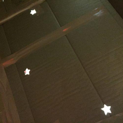 屋根に星 ハウス内から